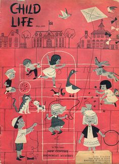 Child Life magazine, May 1959 cover (unknown illustrator).