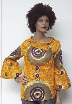 African Print Top. Ankara Top. Handmade Clothing. Bubble
