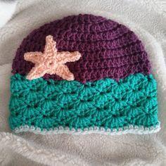 a63bf52b2b6 A CUTE LITTLE SHELLED HAT   A HEADBAND. Crochet Kids HatsCrochet Beanie  HatCrochet CapCrochet ...