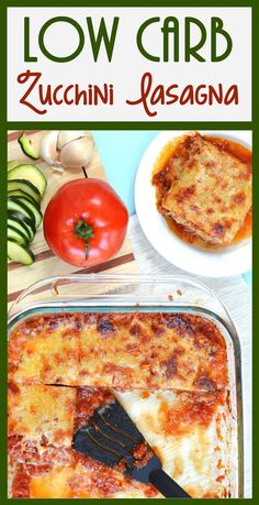 I LOVE lasagna, but we're eating low carb so this low carb lasagna is perfect! Zucchini lasagna with dairy-free & egg-free option. Can't wait to make it!