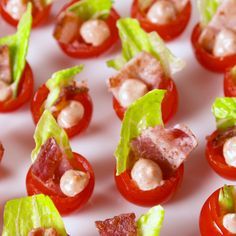 Mini BLT Cups Mini BLT Cups,Rezepte appetizers and drink pastry recipes cabbage rolls recipes cabbage rolls polish Party Finger Foods, Finger Food Appetizers, Snacks Für Party, Appetizers For Party, Appetizer Recipes, Cucumber Appetizers, Individual Appetizers, Salmon Appetizer, Seafood Appetizers