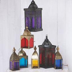 Vintage Style Glass Lanterns - tableware