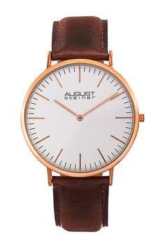 August Steiner | Women's Leather Strap Watch | Nordstrom Rack  Sponsored by Nordstrom Rack.