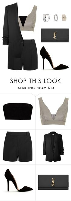 """Untitled #1262"" by susannem ❤ liked on Polyvore featuring MANGO, Topshop, Alexander Wang, Helmut Lang, Zara and Yves Saint Laurent"