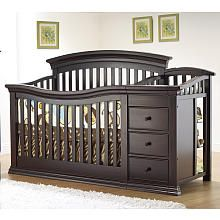 "Sorelle Verona 4-in-1 Lifetime Convertible Crib and Changer - Espresso - C International - Babies ""R"" Us"