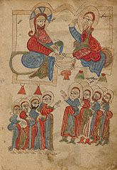 Christ Washing the Apostles' Feet, Armenian, 1386