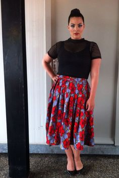 My outfit for Concert at Sea (June 27, 2014 - The Netherlands). Top by Motel and skirt by H  M.