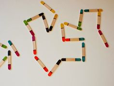 Munchkins and Mayhem: Popsicle Stick Dominos