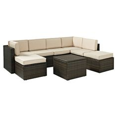 TK Classics :: Florence 7 Piece Outdoor Wicker Patio Furniture Set ...
