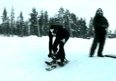 Animated sledding
