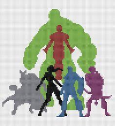geeky+cross+stitch+patterns | Free Pattern Friday – Avengers Assemble!
