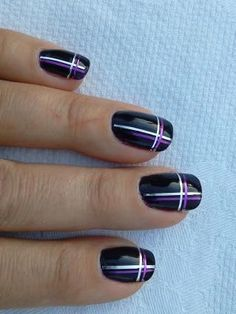 Adding some glitter nail art designs to your repertoire can glam up your style within a few hours. Check our fav Glitter Nail Art Designs and get inspired! Striping Tape Nail Art, Nail Tape, Nail Art Designs, Fingernail Designs, Stripe Nail Designs, Nail Art Stripes, Striped Nails, Plaid Nail Art, Nail Art Diy