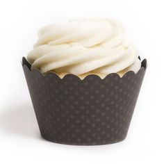 Emma Espresso Brown Cupcake Wrappers