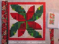 Not Afraid of Color: Working on this year's Christmas quilt...