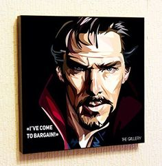 Doctor Strange Ive come to bargain Marvel DC Comics Super Hero Motivational Quotes Wall Decals Pop Art Gifts Portrait Framed Famous Paintings on Acrylic Canvas Poster Prints Artwork Geek Decor Wood * For more information, visit image link.
