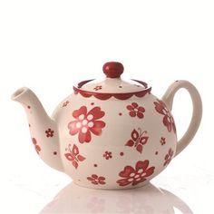 Gabriella Miller Carmina Flower Teapot, Red