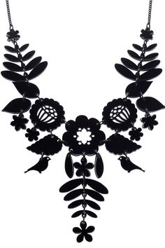 Mexican Embroidery Necklace in black