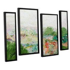 "Latitude Run Blackstone 4 Piece Framed Painting Print on Canvas Set Size: 36"" H x 54"" W x 2"" D"