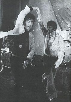 john and ringo | disco dancing | the beatles | dance | www.republicofyou...