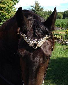 Hotel California - Eagle Native American Rhinestone browband for horse by OkoKonia, $180.00