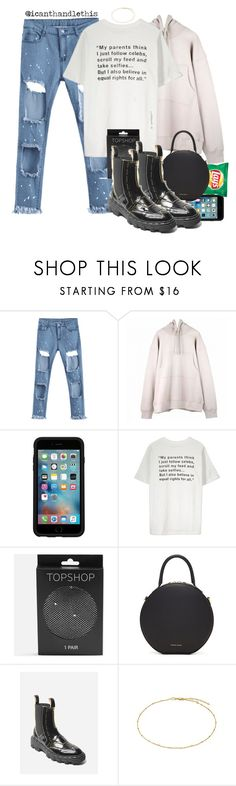 """Logic Ft. Rag'n'Bone Man - Broken People"" by icanthandlethis ❤ liked on Polyvore featuring OtterBox, Topshop and Mansur Gavriel"