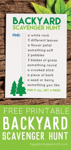 Backyard games 463096774185191394 - This printable backyard scavenger hunt is a great way to entertain kids of all ages at any outdoor party! This list of items can be found in almost any yard or park — kids LOVE checking off this list! Backyard Scavenger Hunts, Scavenger Hunt For Kids, Scavenger Hunt Party, Teen Scavenger Hunts, Easter Scavenger Hunt, Summer Activities, Toddler Activities, Toddler Games, Camping Activities
