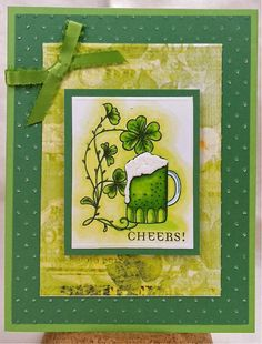 Cheers Handmade Greeting Card by EnchantedLadybug