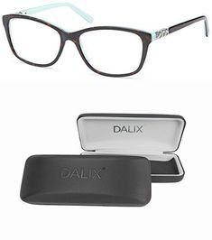 23cb153554 DALIX Female Prescription Eyeglasses Frames 57-17-140-40 RXable in Tortoise  GLS