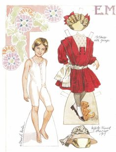 Emma, a girl of 1909, paper doll by Norma Lu Meehan (1 of 2)