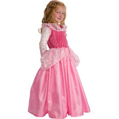 Little Adventures Sleeping Beauty Dress-Up Costume -  Size Large (6)
