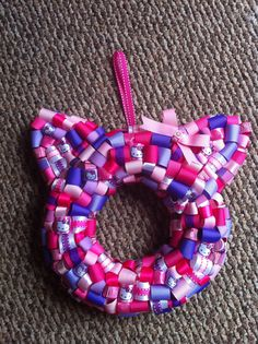 Hello Kitty Ribbon Wreath by KKsHandmadeWreaths on Etsy, $25.00