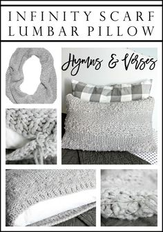 Infinity Scarf Lumbar Pillow - Hymns and Verses