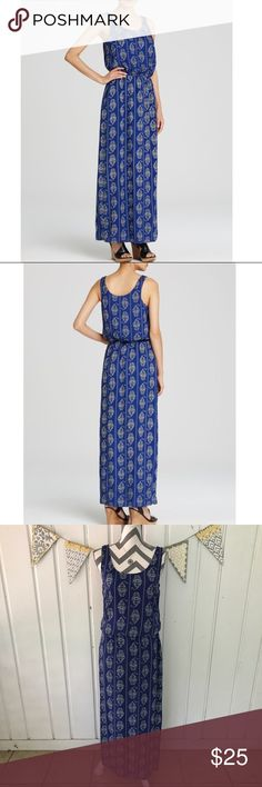 Beach Lunch Lounge Blue Sue Printed Maxi Dress Look pulled together and comfy for whatever your day brings in this pretty printed maxi dress. It is in very good used condition only showing slight wear from washing. There are side slits on each side of the dress coming up from the bottom. Beach Lunch Lounge Dresses Maxi