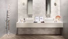 Šedo-bílý obklad do koupelny se spoustou vzorů od výrobce Sant Agostino Metrochic