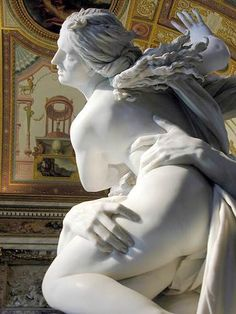 Gian Lorenzo Bernini Out of context, the first photo looks like an photograph of two individuals intertwined, testimony to both marble as a medium as well as the Baroque master's astronomical talent. Sculpture Du Bernin, Bernini Sculpture, Sculpture Ideas, Renaissance Kunst, Classical Art, Persephone, Ancient Art, Art And Architecture, Oeuvre D'art