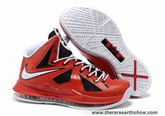 Cheap 541100-611 Nike Lebron X (10) Black Red White Style