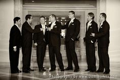 The #groom and his #ushers! #Wedding Picture by #DominoArts Photography (www.DominoArts.com)