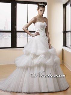 Scollo Cuore Asimmetrico di Vita Vestiti da Sposa