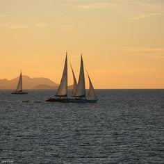 ipad wallpaper: sunset sailing by iskin.co.uk, via Flickr