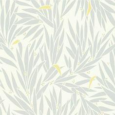 Grey / Chartreuse / Neutral - 110196 - Lauren - Delphine - Harlequin Wallpaper