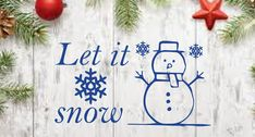Let it Snow Vinyl Wall Decal for Holiday and Winter Decoration Decor, Winter Decor, Vinyl Sticker, Holiday, Holiday Decor, Wall Decor Amazon, Vinyl, Christmas Decorations, Vinyl Wall Decals