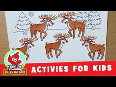 Five Reindeer Christmas Activity for Kids   Maple Leaf Learning Playhouse - YouTube