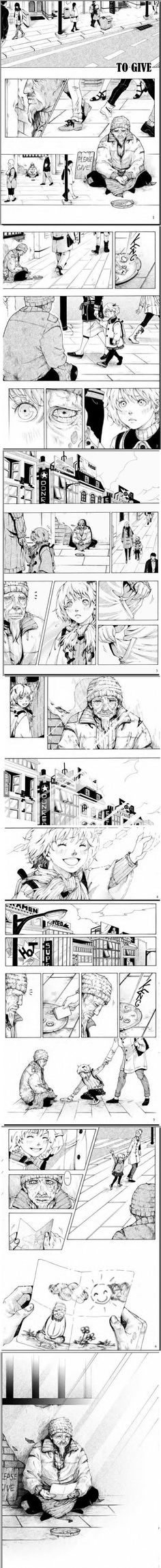 Cute and so sad T.T Manga from unknown writer. (Read from Right to left) http://ibeebz.com