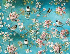 VK is the largest European social network with more than 100 million active users. Interior Wallpaper, Chinoiserie Wallpaper, Wall Wallpaper, Mural Art, Wall Art, Photo D Art, Decoupage Vintage, Bird Art, Oeuvre D'art