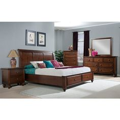 online shopping for Picket House Furnishings Channing Storage Bed Cherry/Queen from top store. See new offer for Picket House Furnishings Channing Storage Bed Cherry/Queen Platform Bed With Storage, Queen Platform Bed, Platform Bed Frame, Platform Bedroom, Bedroom Furniture Sets, Bed Furniture, Furniture Design, Brown Furniture, Classic Furniture
