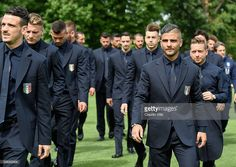 Players of Italy arrive on the pitch for a team photo ahead of the UEFA Euro 2016 at Coverciano on June 1, 2016 in Florence, Italy. #Giaccherini