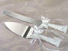 Cake Knife / Server Set Butterfly  Custom Engraved      by BubbaCo, $21.99