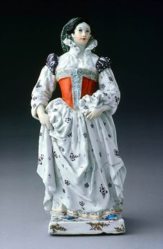 Figure of Isabella d'Andreini, English (Chelsea), about Made at Chelsea Manufactory (England, active Design attributed to Joseph Willems White Frock, Woman Standing, Dresden, Flower Decorations, 18th Century, Derby, Theatre, Chelsea, Household