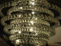 Chandelier made of cups... somewhere in BKK.