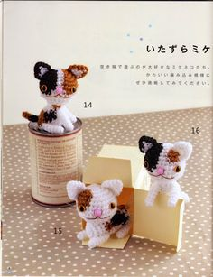 PATRONES GRATIS DE CROCHET: Patrón de unos lindos amigurumis de gatos a croche...